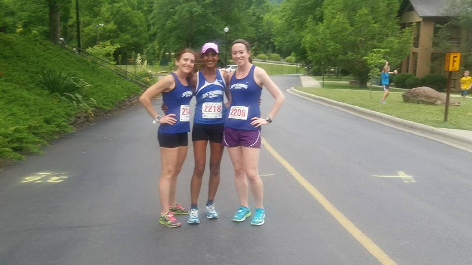 Me with Veena and Megan.  You can see the 80% humidity in the air!