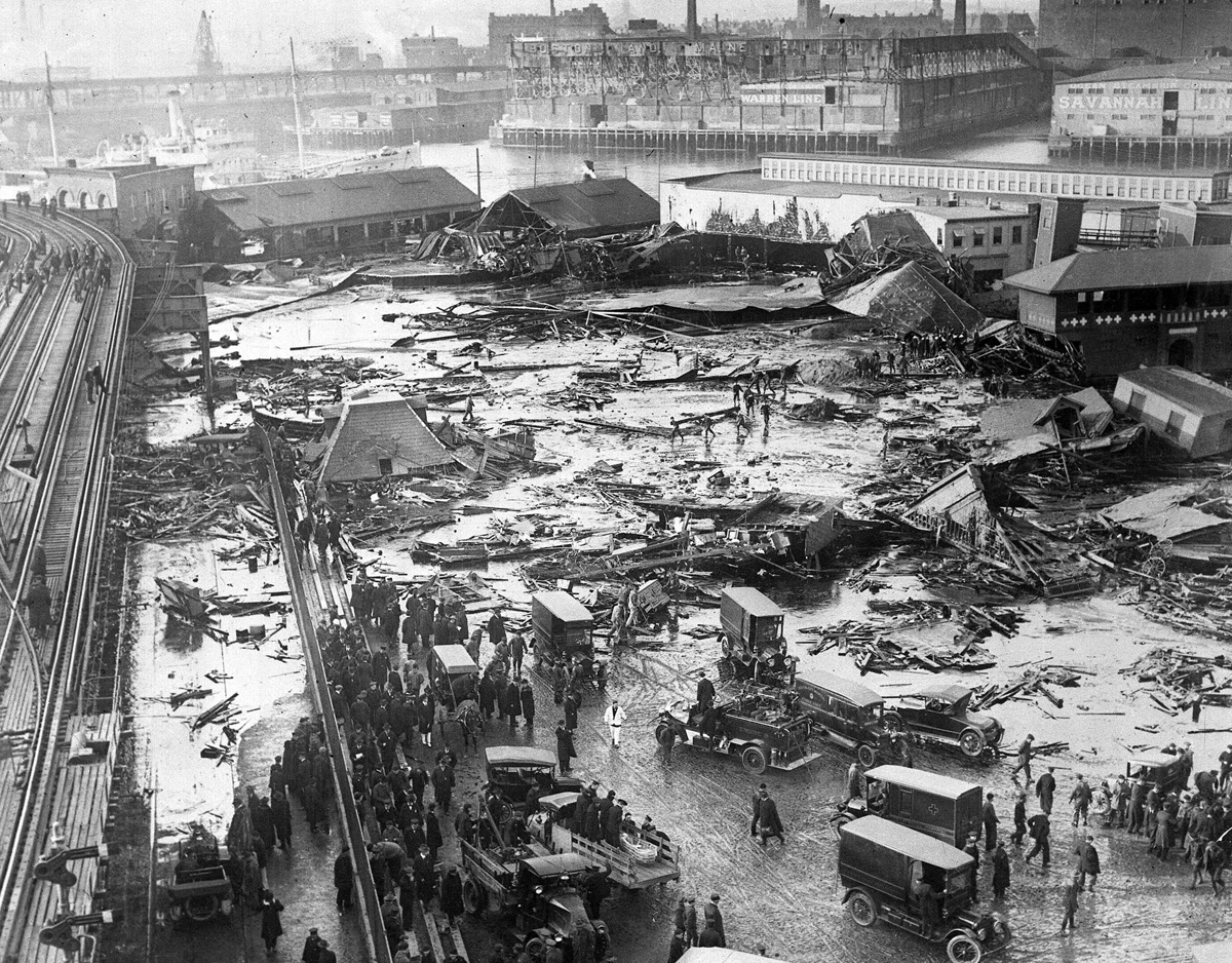 The Boston Molasses Disaster, 1919. Photo from the AP.