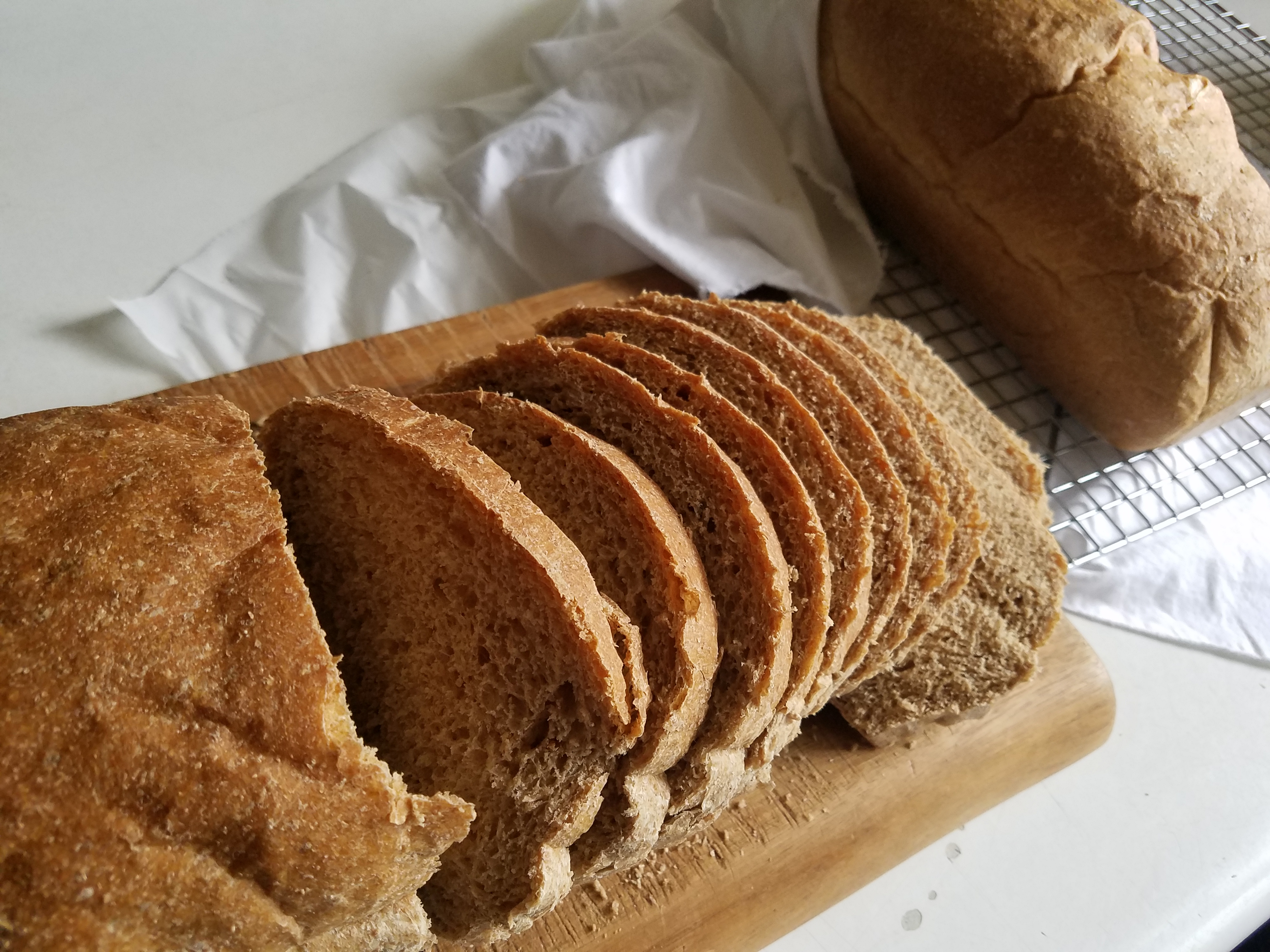 Soft High Protein Whole Wheat Bread