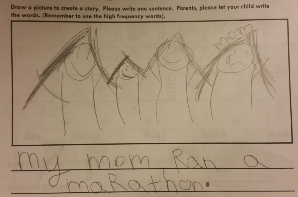 mom crying marathon