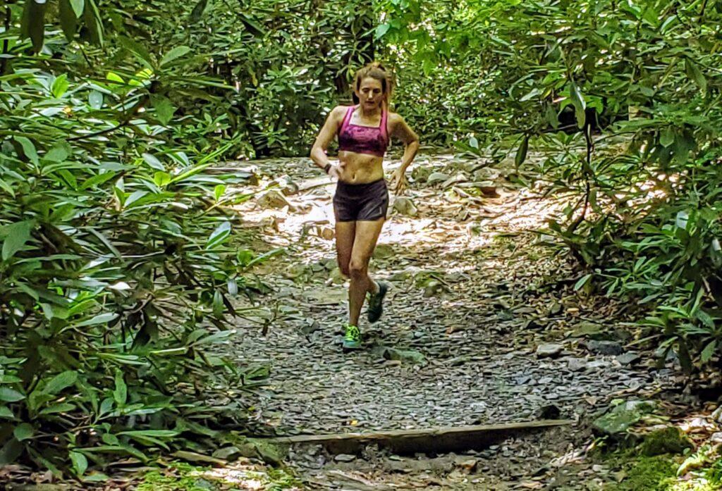 running downhill claire bartholic trail running